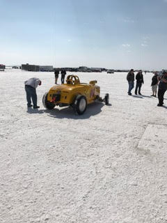 Our ARE Dry Sump and Spintric air oil separator worked awesome and helped keep our Land Speed car together for a world record at Bonneville last month!